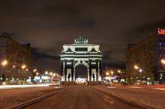 Triomfantelijke boog in Moskou Royalty-vrije Stock Foto's