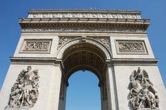Triomfantelijke Boog in Parijs stock foto's