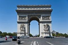 Triomfantelijke Boog in Parijs. stock fotografie