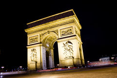 Triomfantelijke Boog in Parijs Royalty-vrije Stock Foto