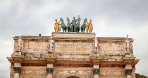 triomphe дуги carrousel de du paris Стоковая Фотография
