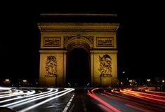triomphe дуги de ночи Стоковое Изображение RF