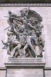 triomphe дуги de статуи Стоковая Фотография RF