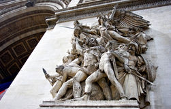 triomphe d'acr de Paris images stock