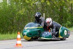 Triomphe de motocyclette de sidecar de cru Photos libres de droits