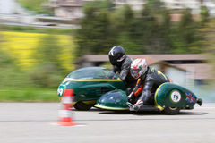 Triomphe de motocyclette de sidecar de cru de 1964 Photo stock