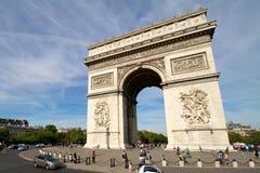 triomphe för bågde france paris Arkivbild