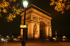 triomphe för bågde france paris Royaltyfri Fotografi