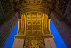 triomphe för bågde france paris royaltyfri bild