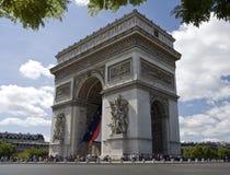 triomphe för bågde france paris Fotografering för Bildbyråer