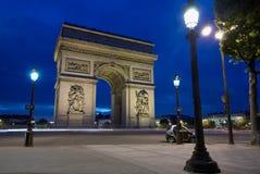 triomphe för bågde france paris Arkivfoto