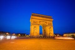 triomphe för bågde france paris Arkivbilder