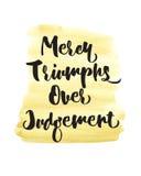 Triomphes de pitié au-dessus de conception d'écriture sainte de jugement Image stock