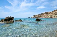 triopetra Крита пляжа Стоковая Фотография RF