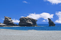 Triopetra海滩克利特 免版税库存照片