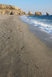 Triopetra beach and rocks. Mediterranean sea. Greece Stock Images