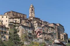 Triora antyczna wioska, prowincja Imperia, Włochy Obrazy Stock