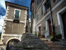 Triora Italy. A country of witches Triora Italy Stock Photo