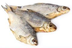 Triotto del pesce fumato tre Fotografia Stock Libera da Diritti
