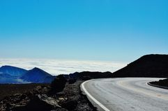 Trip above clouds in haleakala national park Stock Images