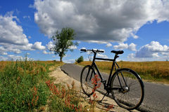Trip adventure outdoor. Bike can meet your needs wherever you are in the world Royalty Free Stock Image