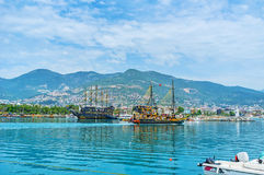 Trip along Alanya coast Stock Photos