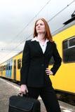 trip bizneswoman fotografia stock