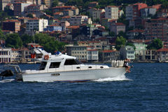 Trip boat. In bosphorus istanbul turkey. Boat royalty free stock photos