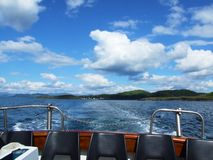 A trip by a bout, Oban, Scotland Stock Image