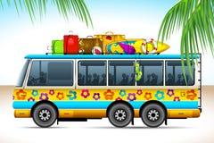 Trip on Bus royalty free illustration