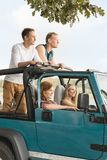 Trip in cabriolet car royalty free stock photography