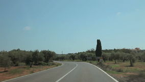 Trip by car on farms. Spain, city of Calig August 2014. The trip by car. Accelerated video stock video footage