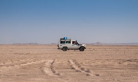 Trip on the desert near Hurghada Royalty Free Stock Photos