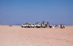 Trip on the desert near Hurghada Royalty Free Stock Photo