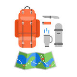 Trip design elements, travel icon set. Vector illustration Royalty Free Stock Photography