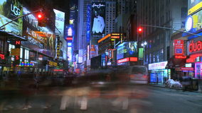 Trip down manhattan. Timelapse footage shot from a vehicle driving down and back up the island stock video footage