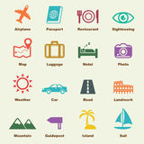 Trip elements. Vector infographic icons Stock Photos