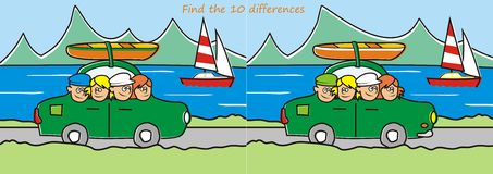 Trip - find ten differences Stock Images