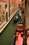 Trip with the gondola - Venice Stock Photo