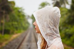 Trip in heavy rain Royalty Free Stock Images