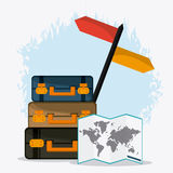 Trip icon set. Time to travel design. Vector graphic Royalty Free Stock Photography