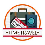 Trip icon set. Time to travel design. Vector graphic Stock Images