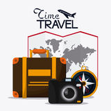 Trip icon set. Time to travel design. Vector graphic Stock Photos