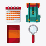 Trip icon set. Time to travel design. Vector graphic Royalty Free Stock Photo
