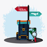Trip icon set. Time to travel design. Vector graphic Stock Image