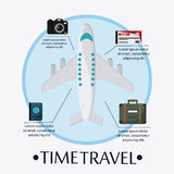 Trip icon set. Time to travel design. Vector graphic Royalty Free Stock Image