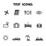 Trip icons Stock Images