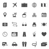 Trip icons on white background Stock Image