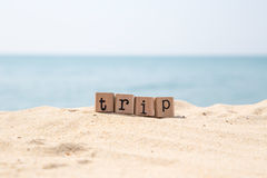 Trip ideas and travel beach Royalty Free Stock Photos