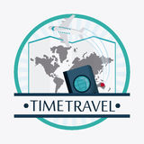 Trip implements. Time to travel design. Vector graphic Stock Photography